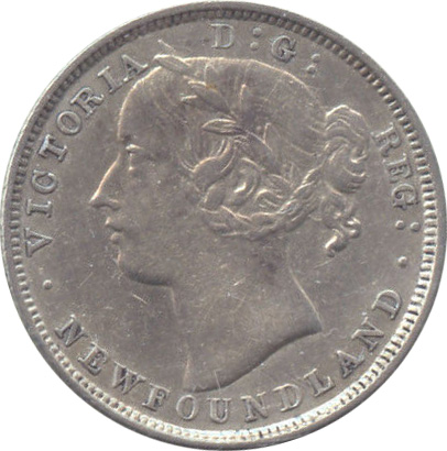 EF-40 - 20 cents 1865 to 1900 - Newfoundland - Victoria