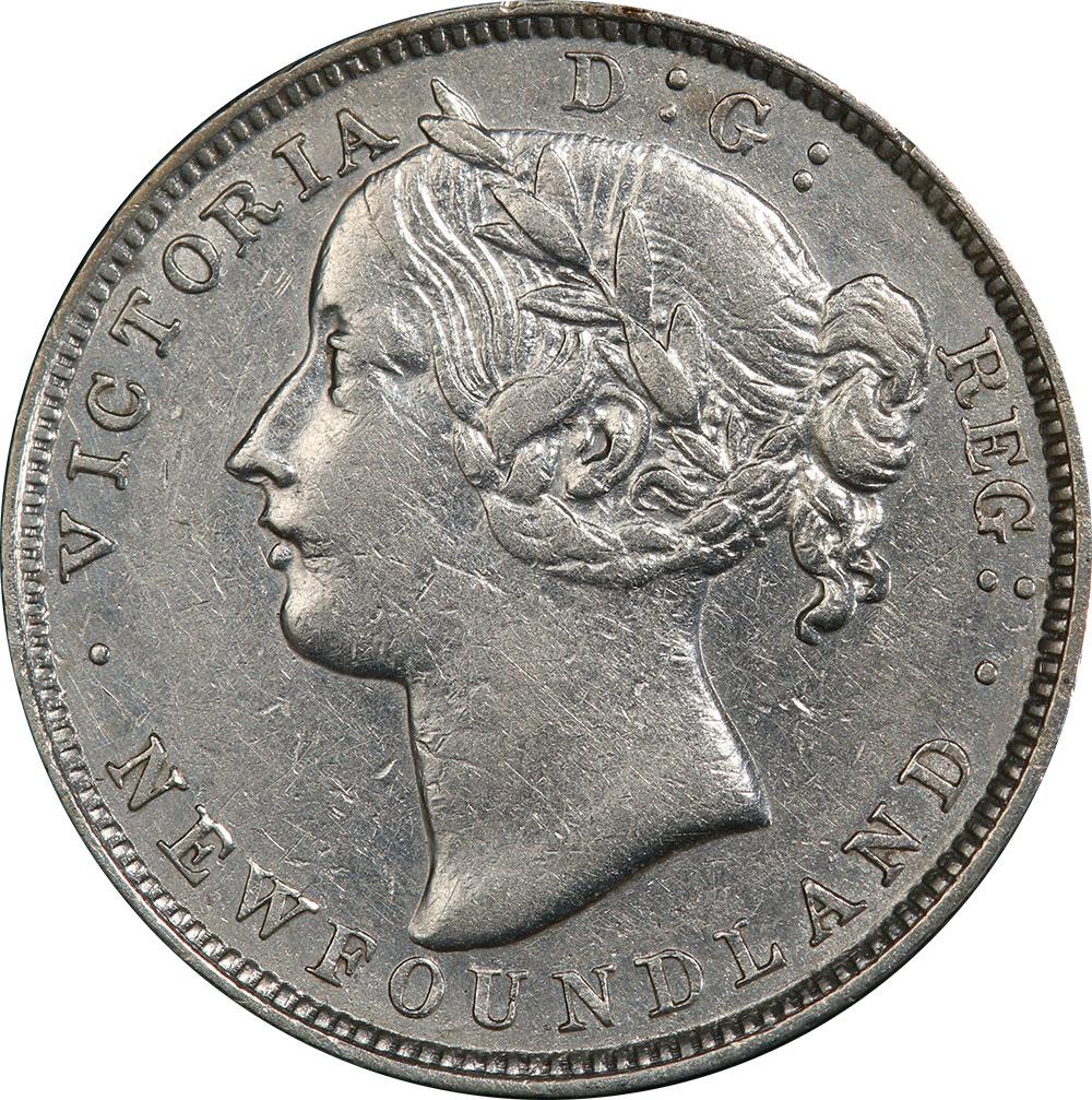 AU-50 - 20 cents 1865 to 1900 - Newfoundland - Victoria