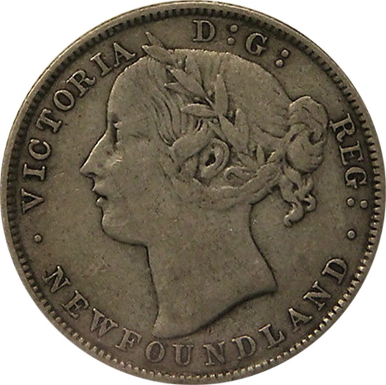 VF-20 - 20 cents 1865 to 1900 - Newfoundland - Victoria