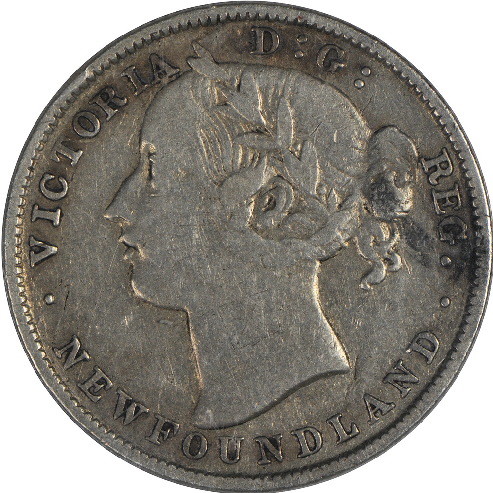 F-12 - 20 cents 1865 to 1900 - Newfoundland - Victoria