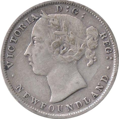F-12 - 20 cents 1865 to 1900 - Newfoundland - Victoria