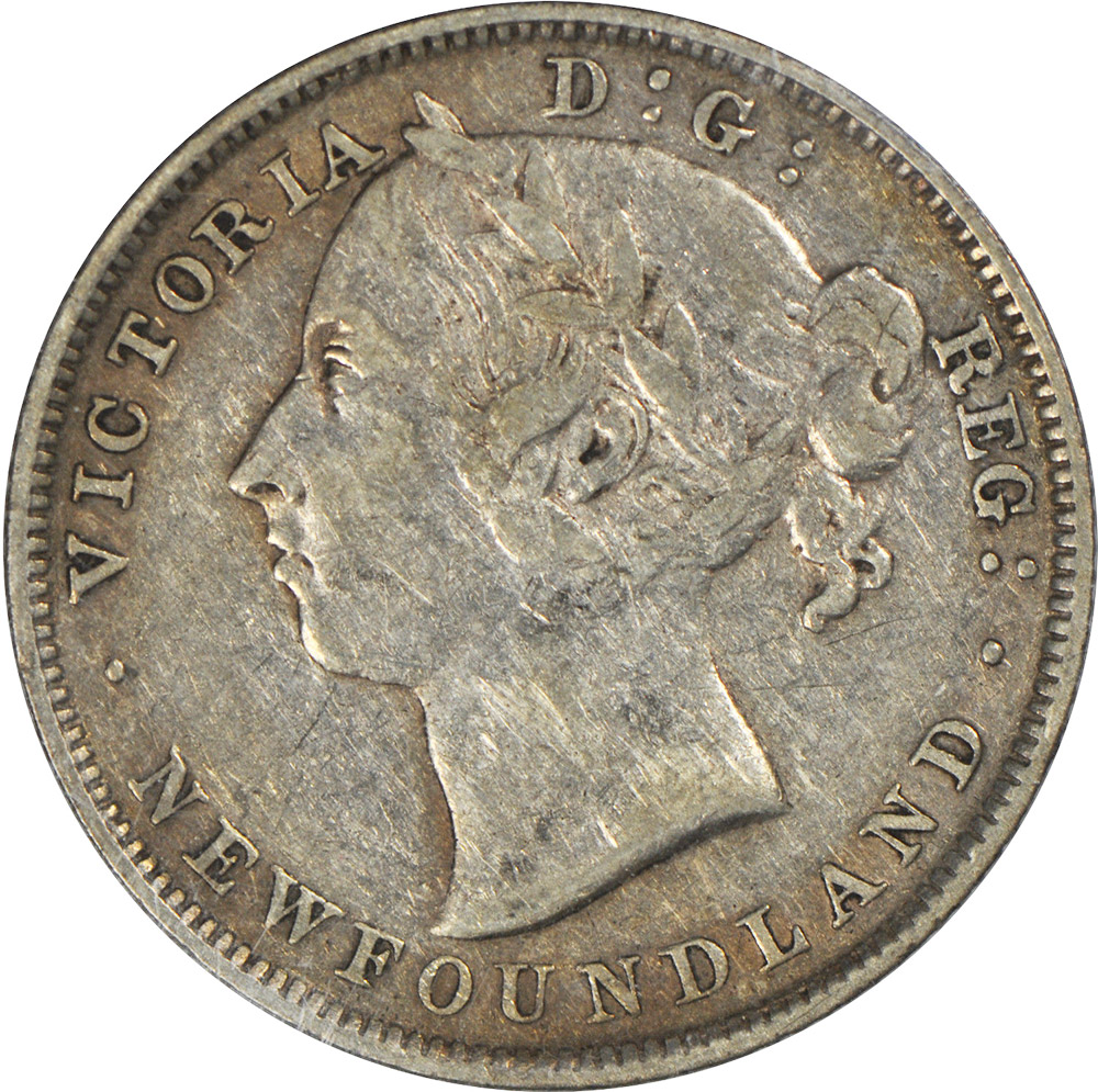 VF-20 - 20 cents 1865 to 1900 - Newfoundland - Victoria
