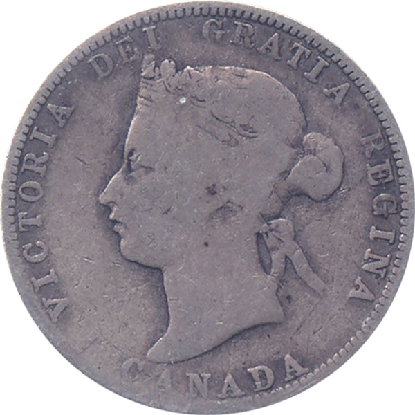 G-4 - 25 cents 1870 to 1901 - Victoria
