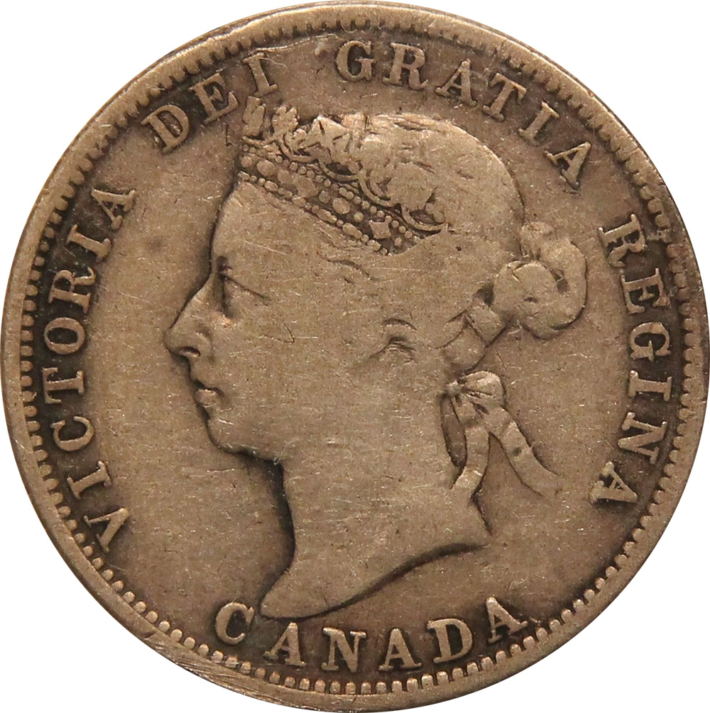 VG-8 - 25 cents 1870 to 1901 - Victoria