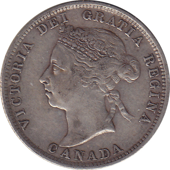 VF-20 - 25 cents 1870 to 1901 - Victoria