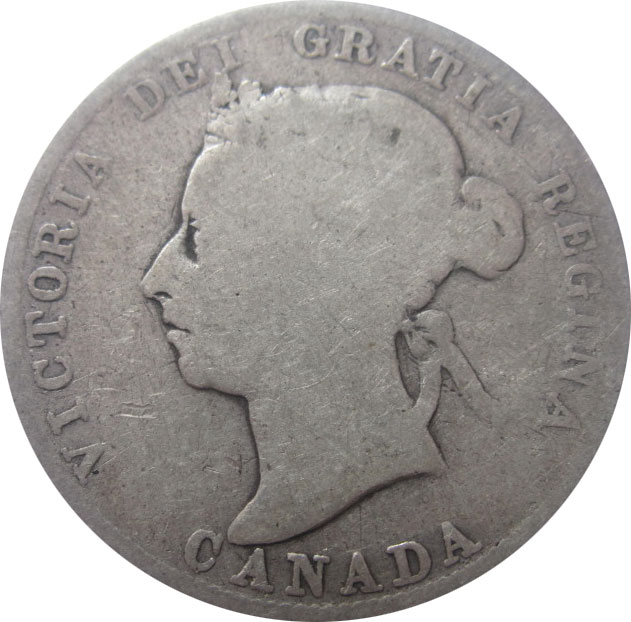 AG-3 - 25 cents 1870 to 1901 - Victoria