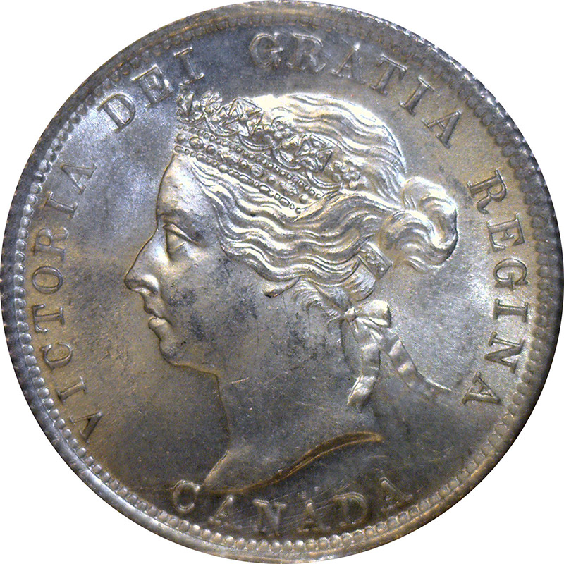 MS-60 - 25 cents 1870 to 1901 - Victoria