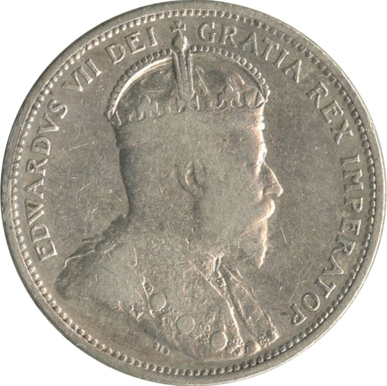 F-12 - 25 cents 1902 to 1910 - Edward VII