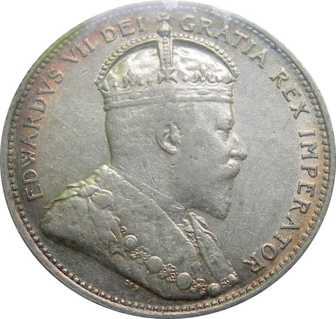 EF-40 - 25 cents 1902 to 1910 - Edward VII