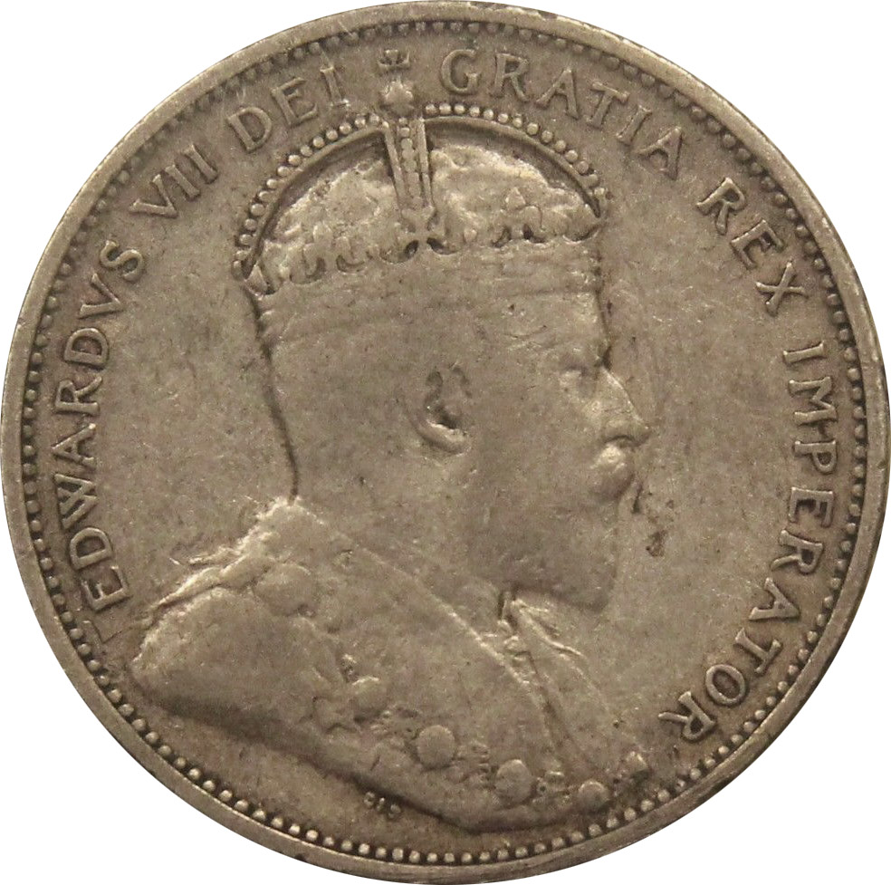 VF-20 - 25 cents 1902 to 1910 - Edward VII