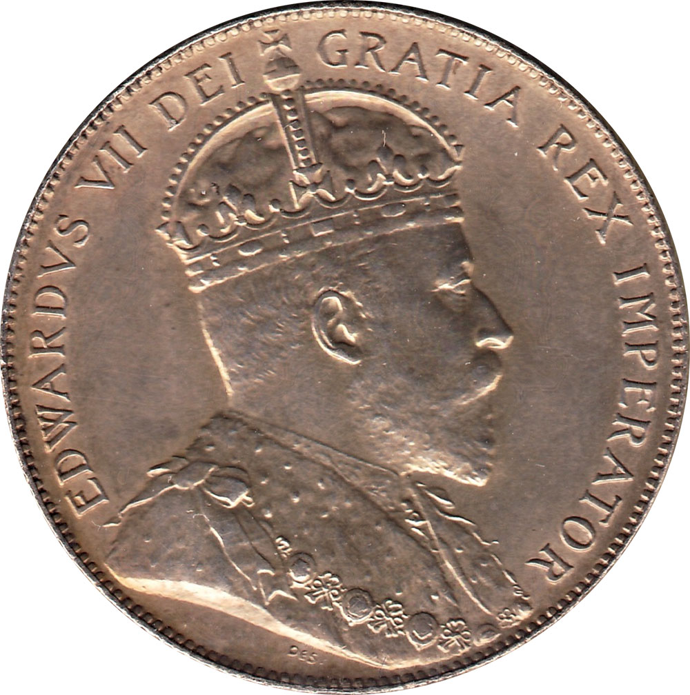 MS-60 - 25 cents 1902 to 1910 - Edward VII