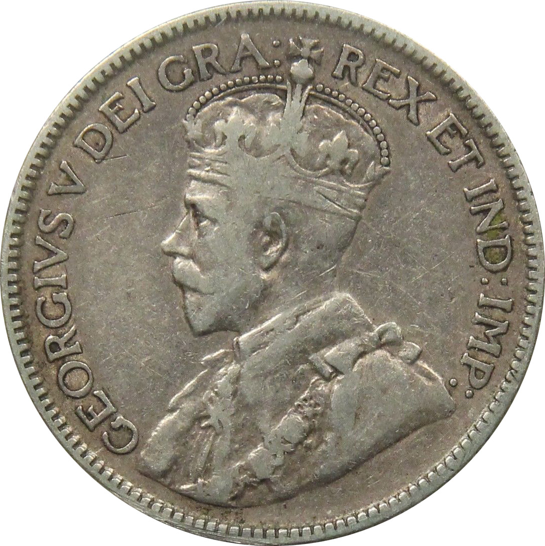 F-12 - 25 cents 1911 to 1936 - George V