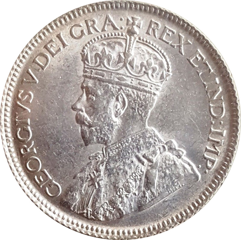 AU-50 - 25 cents 1911 to 1936 - George V