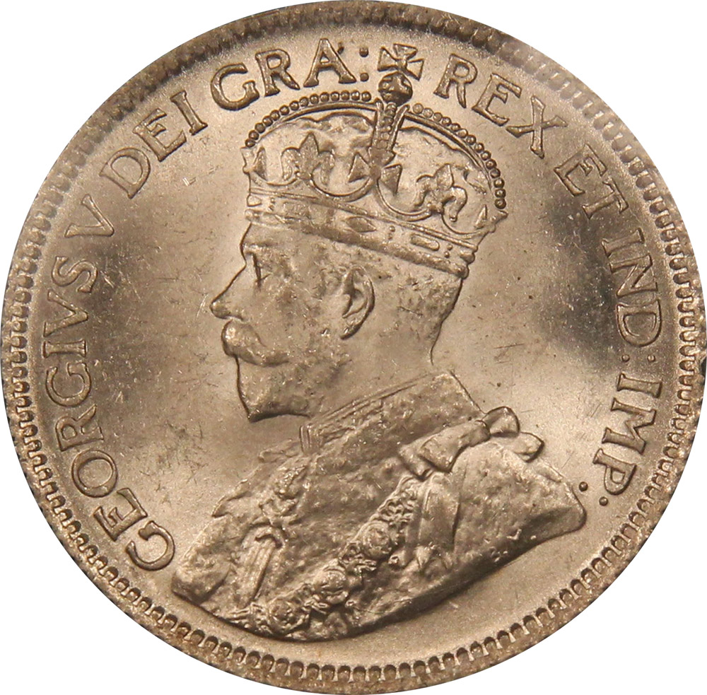 MS-60 - 25 cents 1911 to 1936 - George V