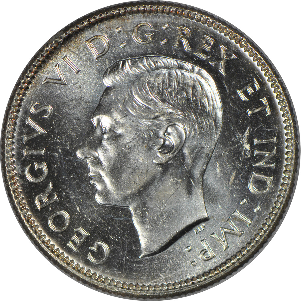 MS-60 - 25 cents 1937 to 1952 - George VI