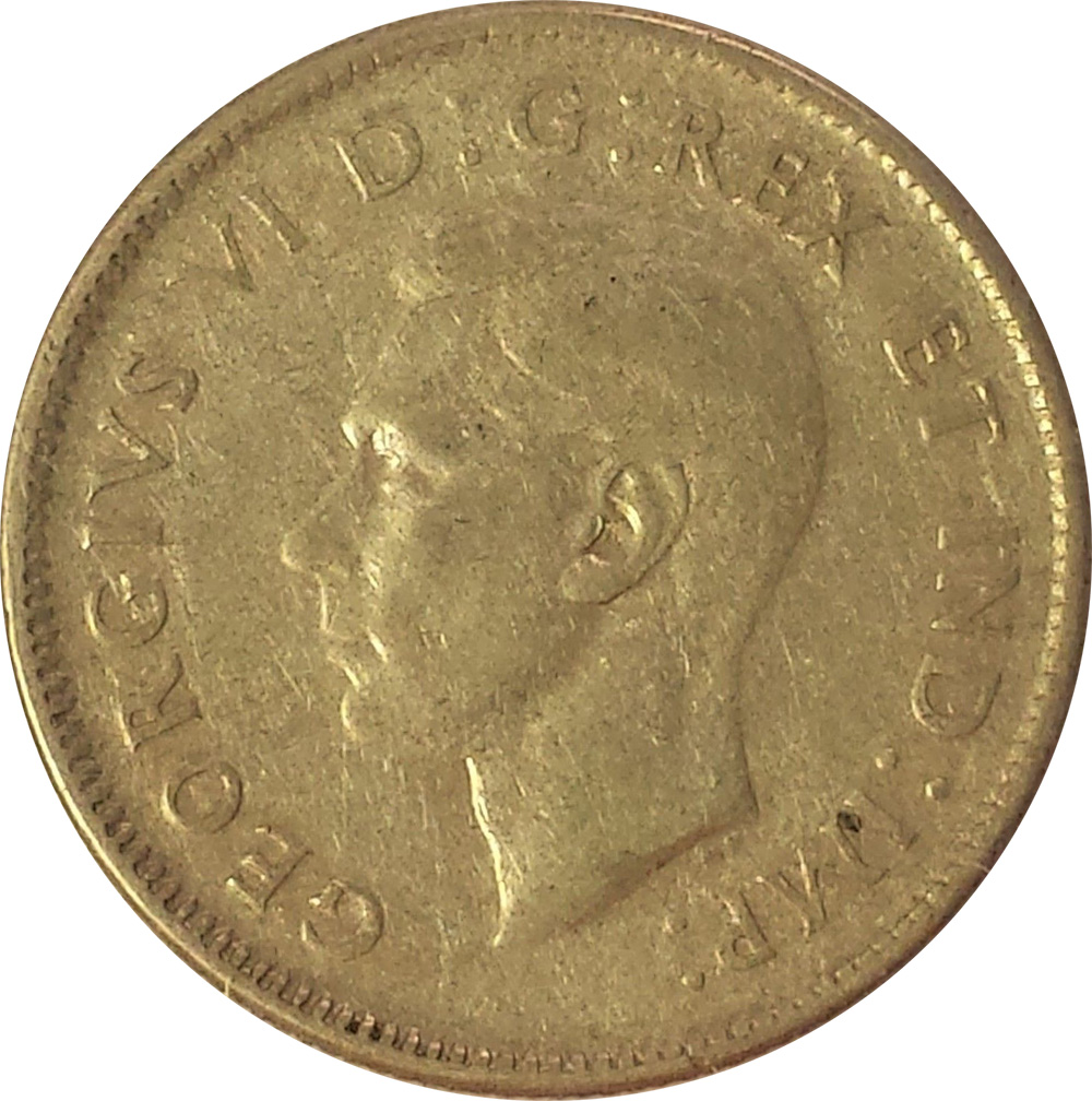 VG-8 - 25 cents 1937 to 1952 - George VI
