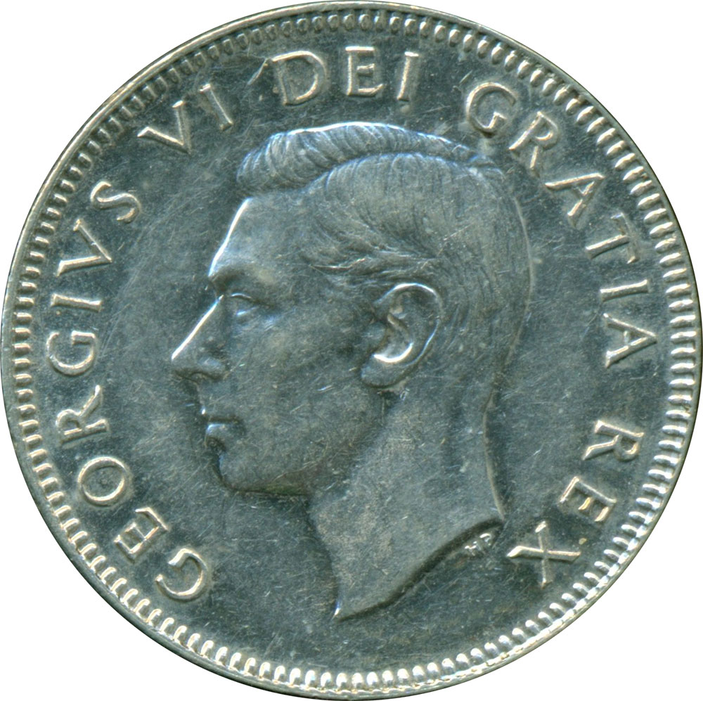 EF-40 - 25 cents 1937 to 1952 - George VI