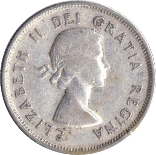 VG-8 - 25 cents 1953 to 1964 - Elizabeth II
