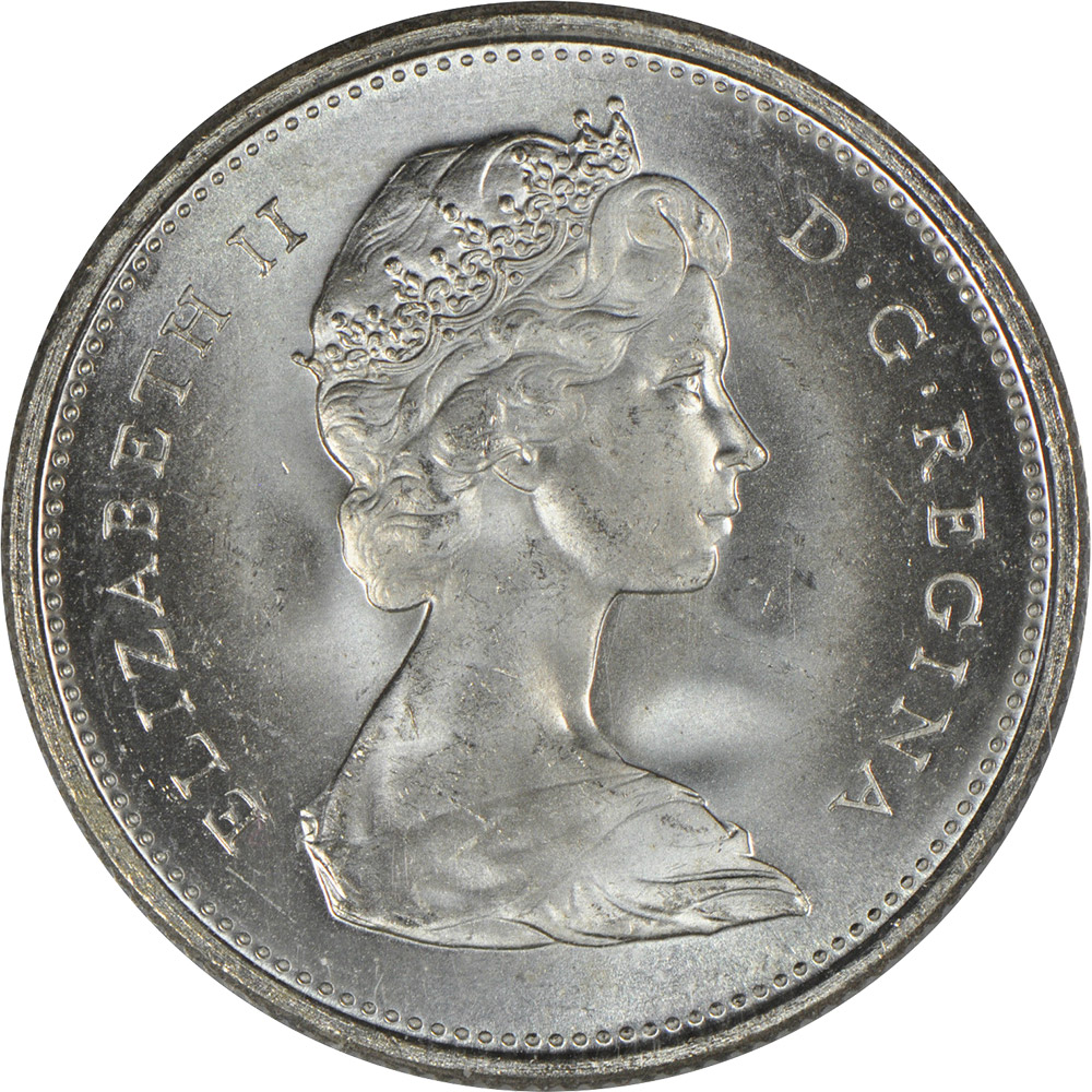 MS-60 - 25 cents 1968 to 1989 - Elizabeth II