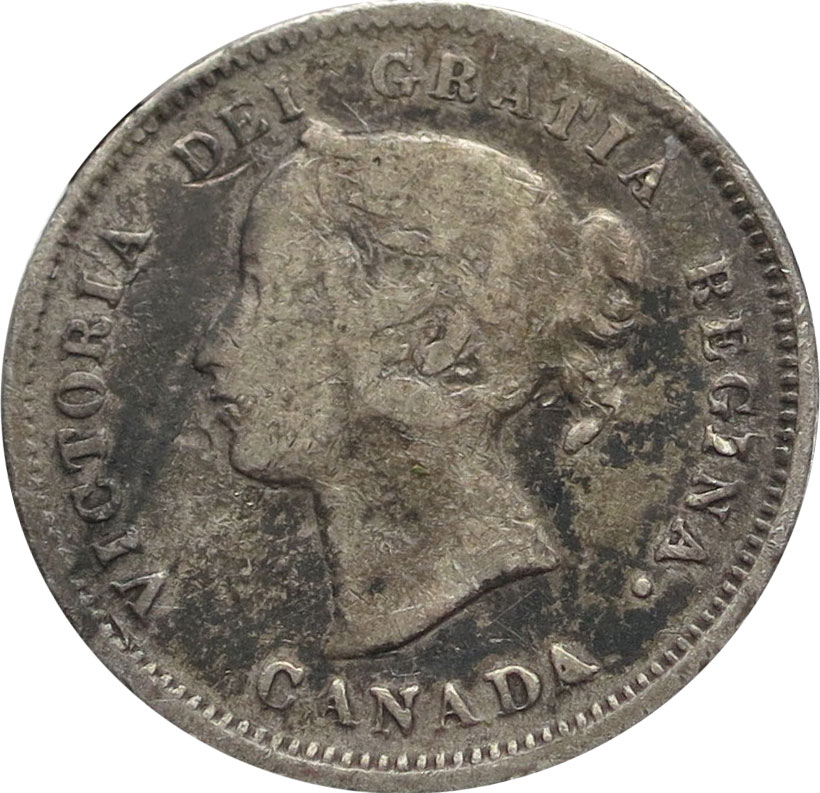 VG-8 - 5 cents 1858 to 1901 - Victoria