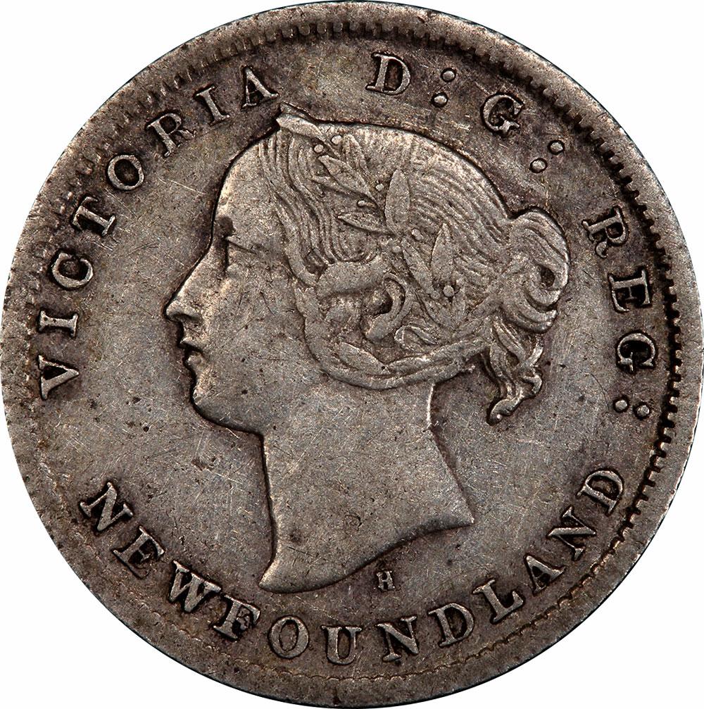 EF-40 - 5 cents 1865 to 1896 - Newfoundland - Victoria
