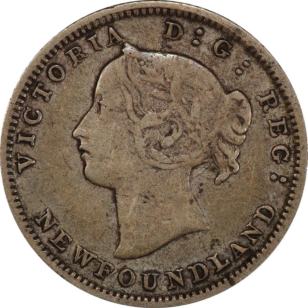 VF-20 - 5 cents 1865 to 1896 - Newfoundland - Victoria