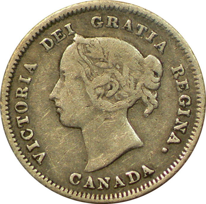 F-12 - 5 cents 1858 to 1901 - Victoria