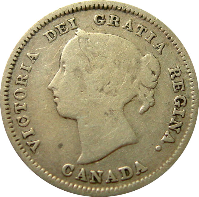 G-4 - 5 cents 1858 to 1901 - Victoria
