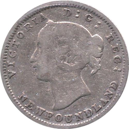 VG-8 - 5 cents 1865 to 1896 - Newfoundland - Victoria