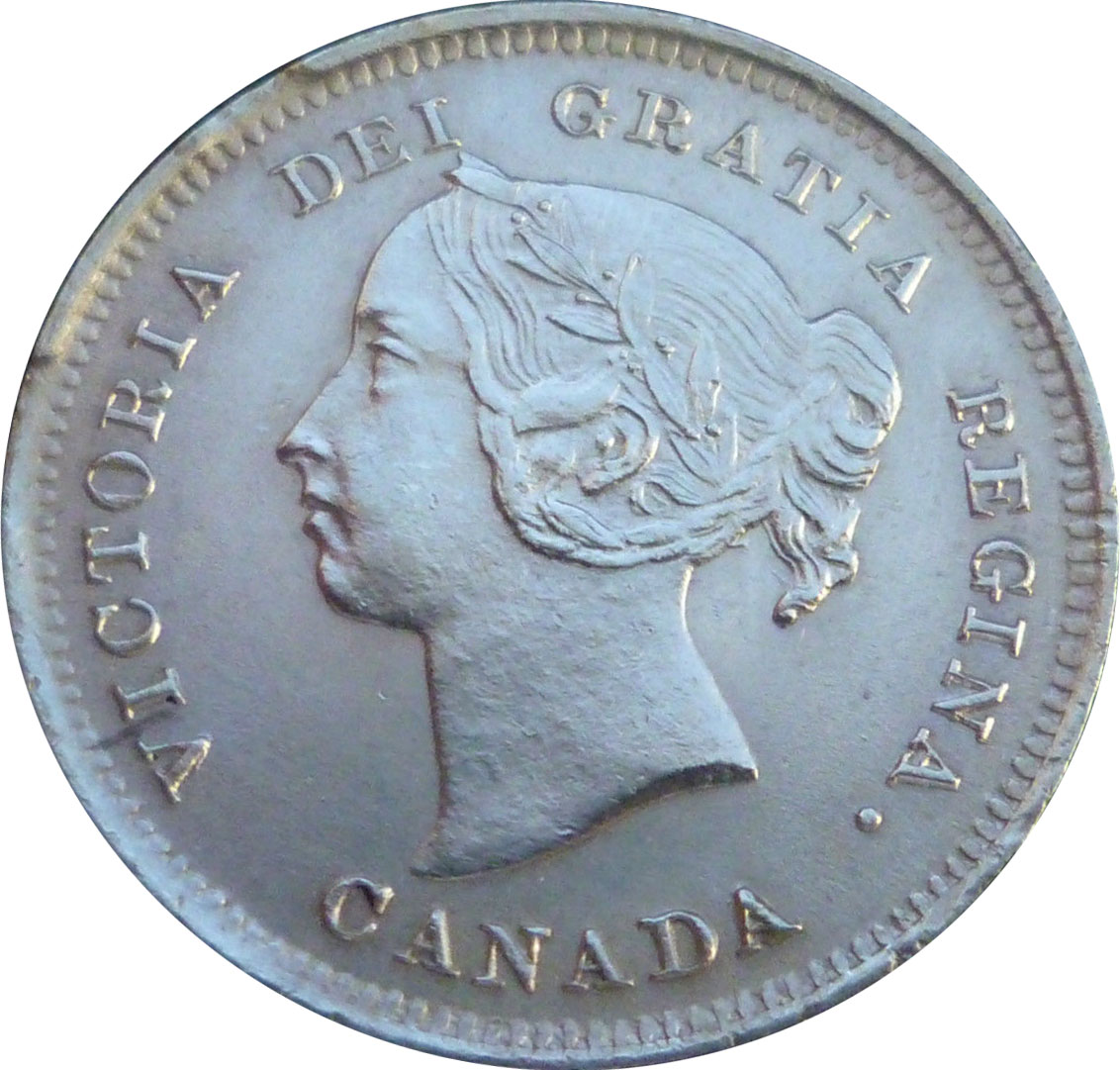 AU-50 - 5 cents 1858 to 1901 - Victoria