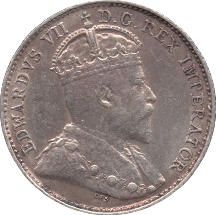 EF-40 - 5 cents 1902 to 1910 - Edward VII