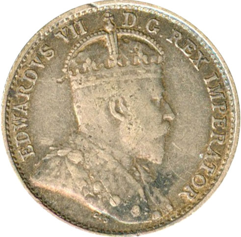 F-12 - 5 cents 1902 to 1910 - Edward VII