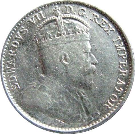 VG-8 - 5 cents 1902 to 1910 - Edward VII