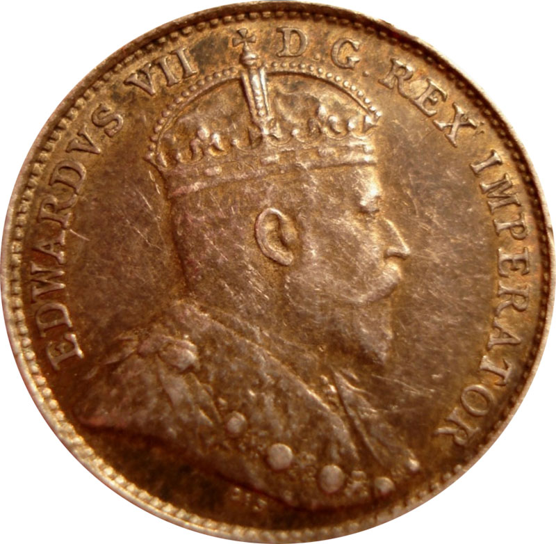VF-20 - 5 cents 1902 to 1910 - Edward VII