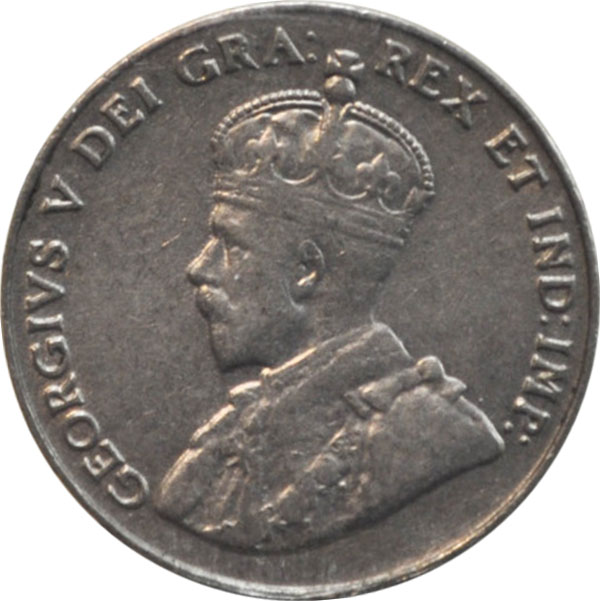 VF-20 - 5 cents 1911 to 1936 - George V