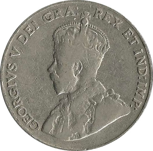 VG-8 - 5 cents 1911 to 1936 - George V