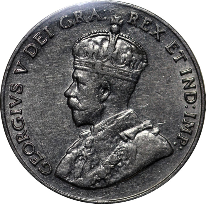 EF-40 - 5 cents 1911 to 1936 - George V