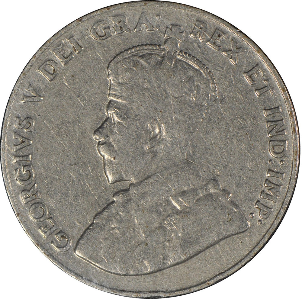 F-12 - 5 cents 1911 to 1936 - George V
