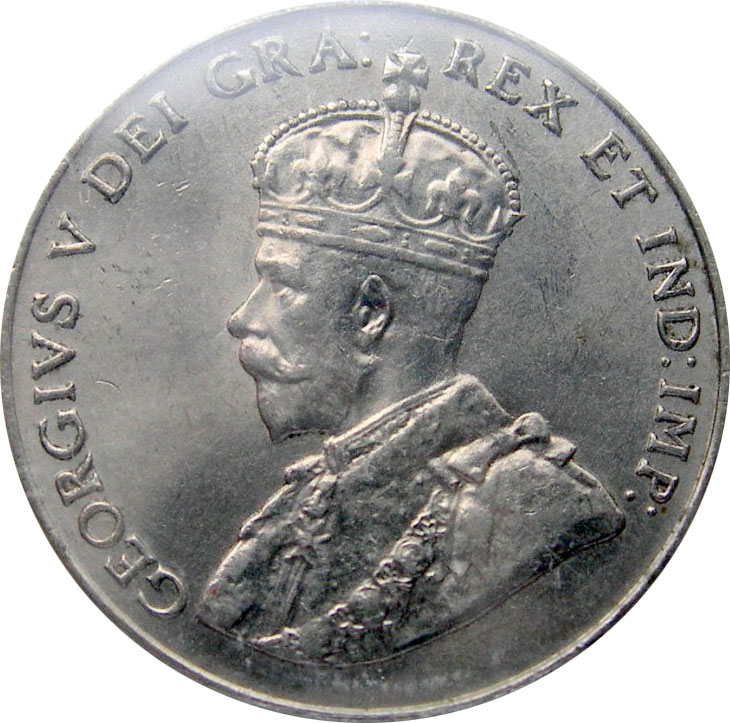 MS-60 - 5 cents 1911 to 1936 - George V