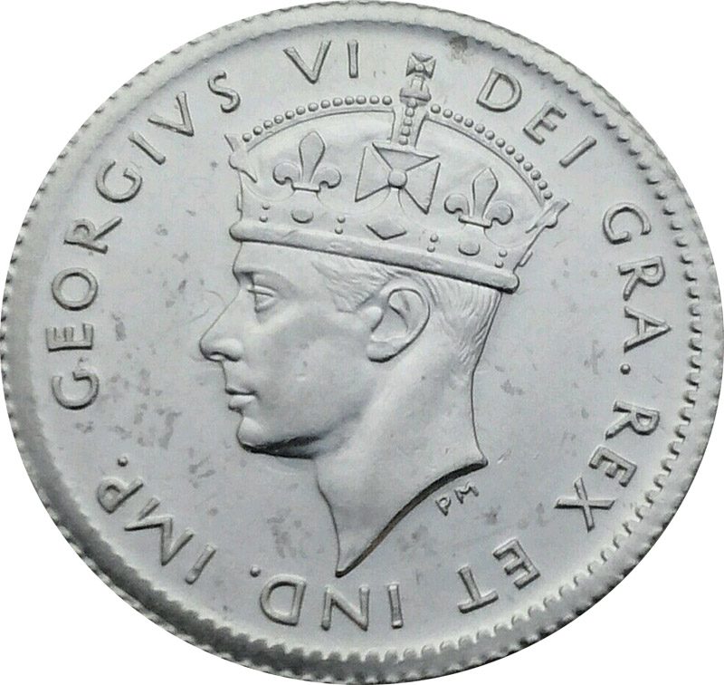MS-60 - 5 cents 1938 to 1947 - Newfoundland - George VI