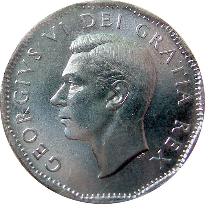 MS-60 - 5 cents 1937 à 1952 - George VI