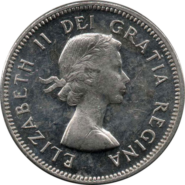 EF-40 - 5 cents 1953 to 1964 - Elizabeth II