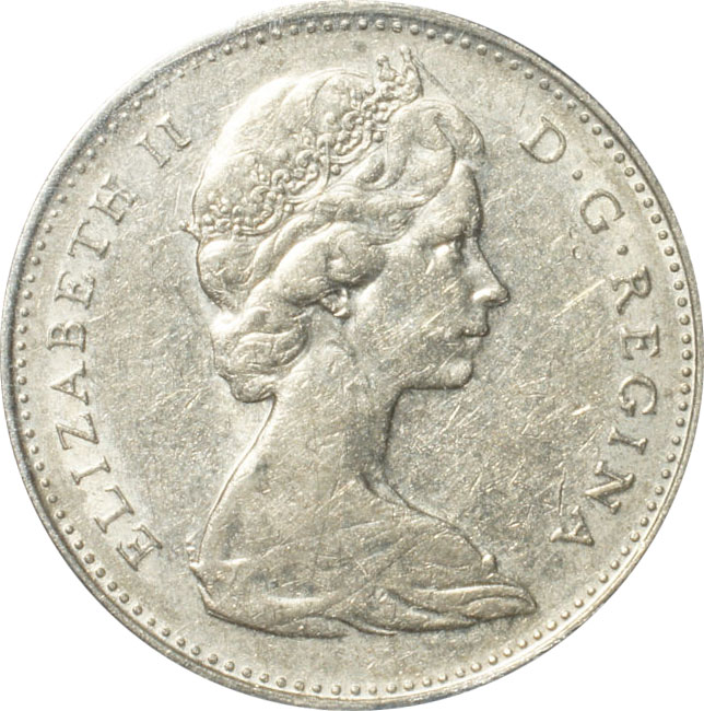 EF-40 - 5 cents 1965 to 1989 - Elizabeth II