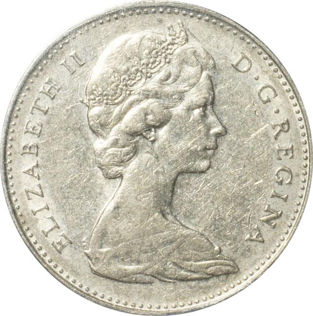EF-40 - 5 cents 1965 to 1989 - Elizabeth II