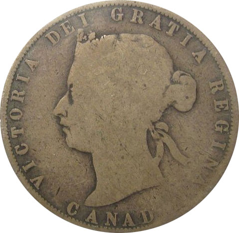 AG-3 - 50 cents 1870 to 1901 - Victoria