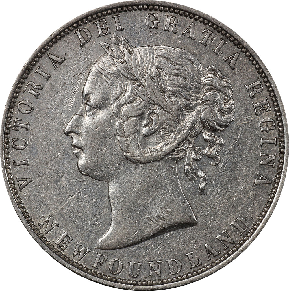 AU-50 - 50 cents 1865 to 1900 - Newfoundland - Victoria