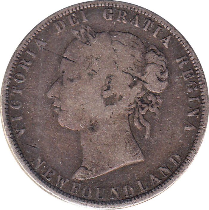 G-4 - 50 cents 1865 to 1900 - Newfoundland - Victoria