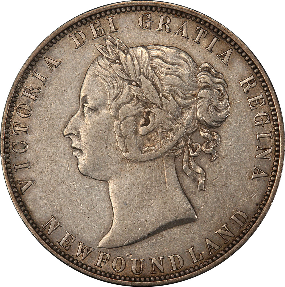 EF-40 - 50 cents 1865 to 1900 - Newfoundland - Victoria