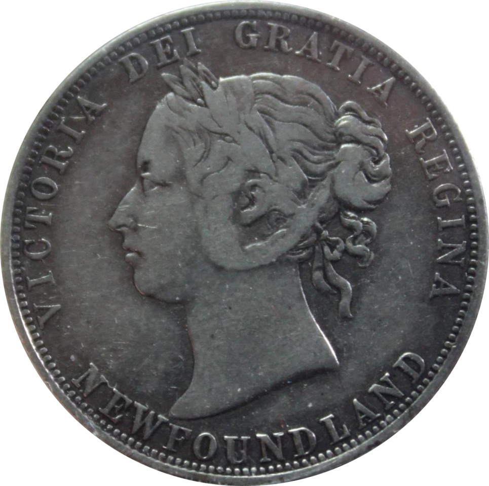 F-12 - 50 cents 1865 to 1900 - Newfoundland - Victoria