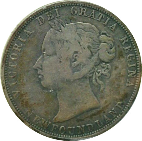 VG-8 - 50 cents 1865 to 1900 - Newfoundland - Victoria